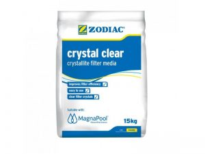 Swoop Pools Zodiac Crystal Clear – Crystallite Filter Media A type of filtration media that can be used as a direct replacement for sand or zeolite. Commonly referred to as glass media, it has environmental and sanitary benefits over traditional silica/sand media.